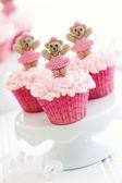 Ballerina cupcakes — Stock Photo