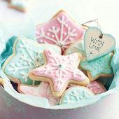 クッキーのギフト ボックス — ストック写真