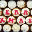 Stock Photo: Christmas cupcakes