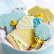 Baby shower cookies — Stock Photo #15792879