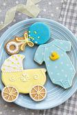 Baby shower cookies — Stock Photo