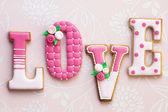 Love cookies — Stock Photo