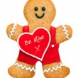 Stock Photo: Valentine gingerbread man