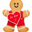 Valentine gingerbread man — Stock Photo #19336901