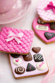 Chocolate box cookies — Stockfoto