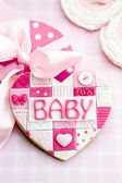 Baby shower cookie — Stock Photo