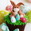 Easter bunny cupcake — Stock Photo
