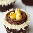 Easter chick cupcakes — Stock Photo