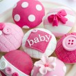 Stock Photo: Baby shower cupcakes