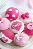 Cupcakes do chuveiro de bebê — Foto Stock