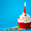 Birthday cupcake — Stock Photo #24545727