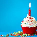 Birthday cupcake — Stock Photo