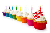 Birthday cupcakes — Stockfoto