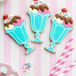 Stock Photo: Ice cream sundae cookies