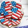 Patriotic cookies — Stock Photo