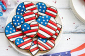 Patriotic cookies — Stock Photo