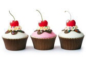 Ice cream sundae cupcakes — Stock Photo