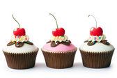 Ice cream sundae cupcakes — Stock Photo