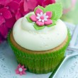 Stock Photo: Flower cupcake