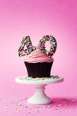 40th birthday cupcake — Stock Photo