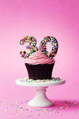 30th birthday cupcake — Stock Photo