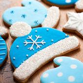 Bobble hat cookies — Stock Photo