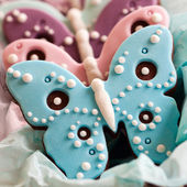 Butterfly cookies — Stock Photo
