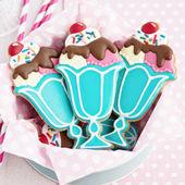 Ice cream sundae cookies — Stock Photo
