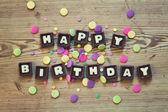 Grattis på födelsedagen i choklad — Stockfoto