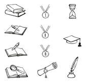 Vector graphic symbols of education — Stock Vector