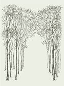 Vector background. Arc frame of trees — 图库矢量图片