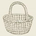 Vector wickerwork basket — Stock Vector #20320647
