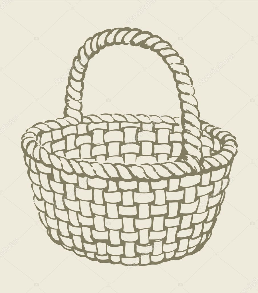 картинка корзинка раскраска