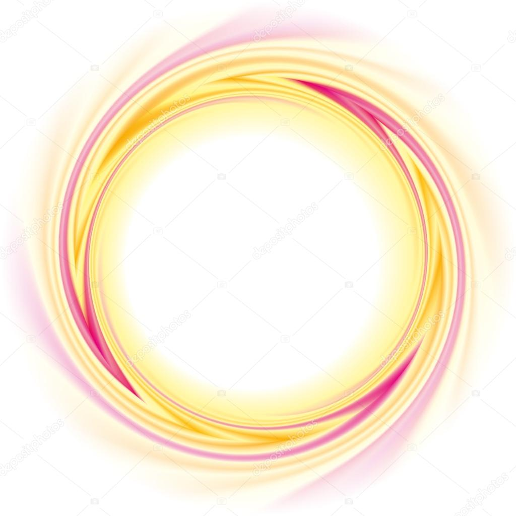 Vector background. Abstract round frame of twisted stripes ...