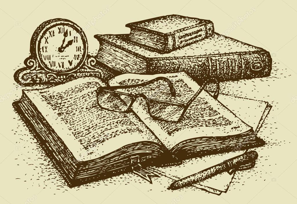 Resultado de imagem para livros antigo desenho