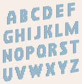 Vector alphabet letters which consist of volume blocks — Stock Vector
