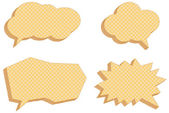 Vector collection of speech bubbles, consisting of waffles — Stock Vector