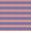 Vector seamless background. Knitted fabric with violet and pink stripes — Stock Vector