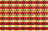 Vector seamless background. Knitted fabric with beige and red stripes — Stock Vector