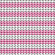 Royalty-Free Stock Vector Image: Vector seamless background. Knitted fabric with white and pink stripes