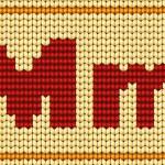 alfabeto maglia rossa del vettore. lettera m — Vettoriale Stock  #23606415