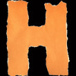 Stock Photo: Letters from torn scraps of colored paper. Letter H