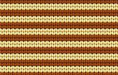 矢量无缝背景。针织的面料米色和棕色条纹 — 图库矢量图片