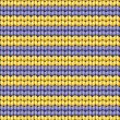 Royalty-Free Stock Vector Image: Vector background. Knitted fabric with yellow and purple stripes