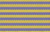 Vector achtergrond. breien (textiel) met geel en paars strepen — Stockvector