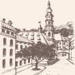 Vector cityscape. Street of an old European town — Stock Vector #31770185
