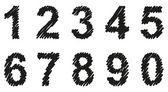 Vector hand-drawn font shaded marker — Stock Vector