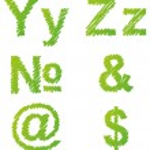 Vector hand-drawn font shaded marker — Vector de stock