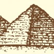 "Series ""Seven Wonders of Ancient World"". Pyramid of Giza — Vecteur #40857273"