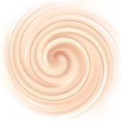 Vector background of swirling creamy texture — Stock Vector